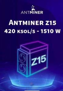 Bitmain Antminer Z15 - 420 ksol/s